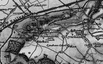 Old map of Bradenstoke in 1898