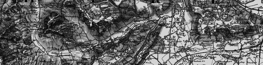 Old map of Bradfield in 1895