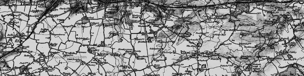 Old map of Wix Lodge in 1896