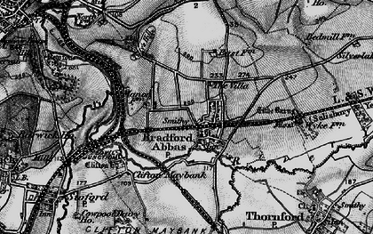 Old map of Bradford Abbas in 1898