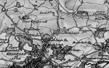 Old map of Bradford Leigh in 1898