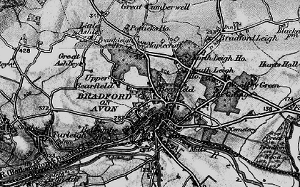 Old map of Bradford-On-Avon in 1898
