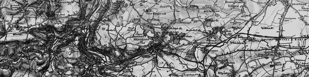 Old map of Bradford-On-Avon in 1898