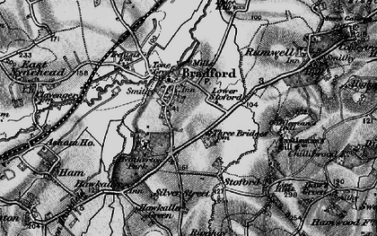 Old map of Bradford-on-Tone in 1898
