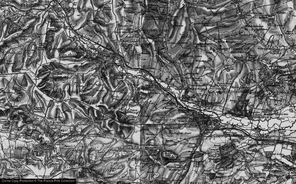 Old Map of Historic Map covering Tilly Whim in 1897