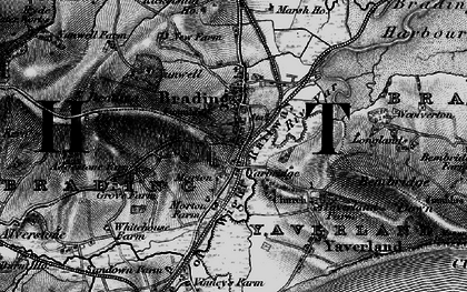 Old map of Brading in 1895