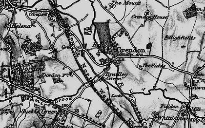 Old map of Bradley Green in 1899
