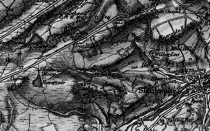 Old map of Worts Hill in 1896