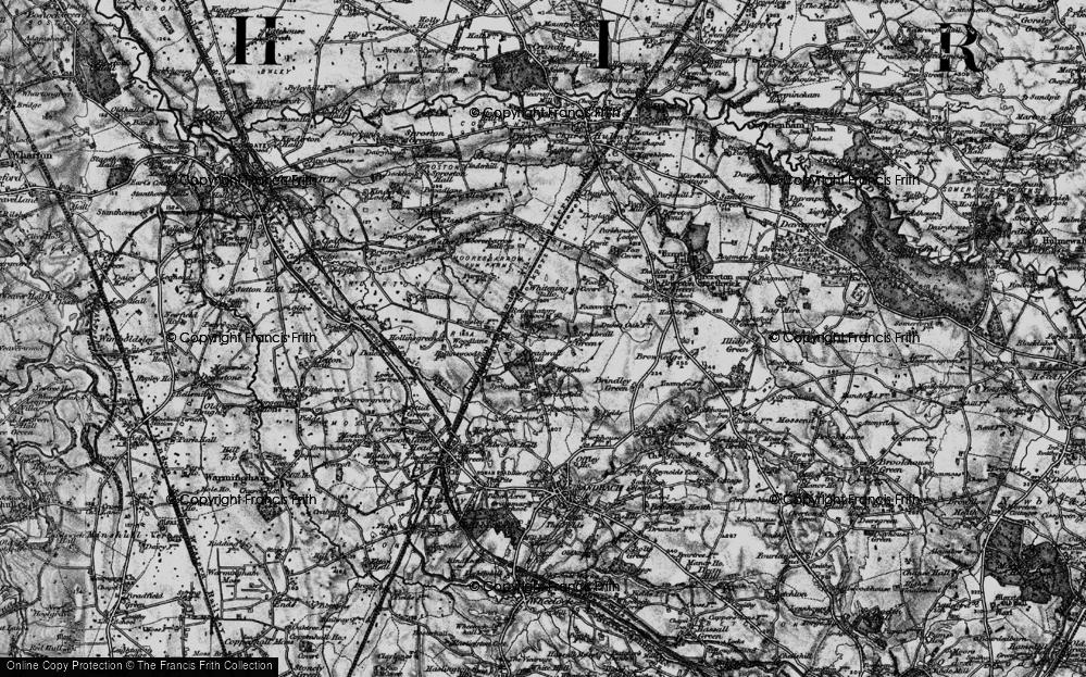 Old Map of Bradwall Green, 1897 in 1897