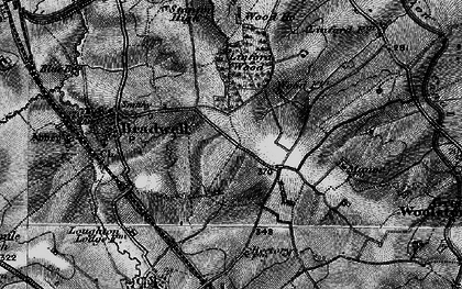 Old map of Bradwell Common in 1896