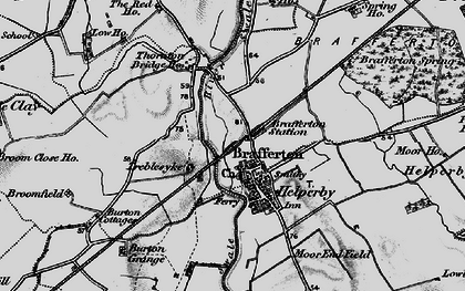 Old map of Brafferton in 1898