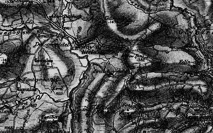 Old map of Braichyfedw in 1899