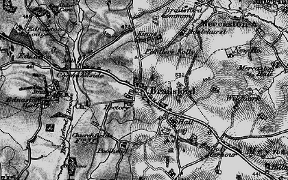Old map of Wildpark in 1897