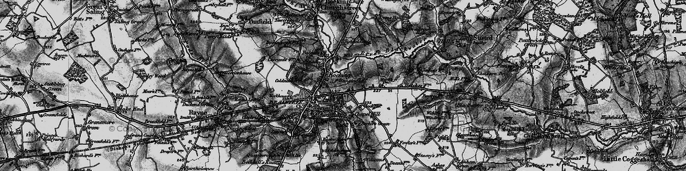 Old map of Braintree in 1896