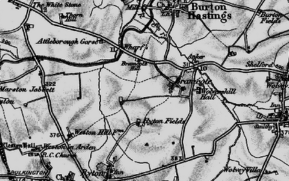 Old map of Bramcote in 1899