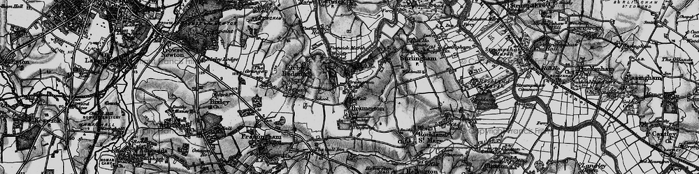Old map of Bramerton in 1898