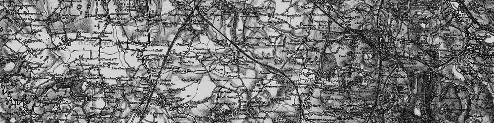 Old map of Bramhall in 1896