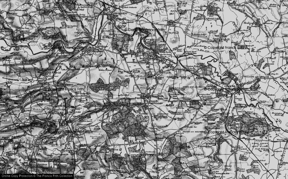 Old Map of Bramham, 1898 in 1898