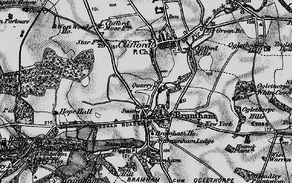 Old map of Wise Warren in 1898