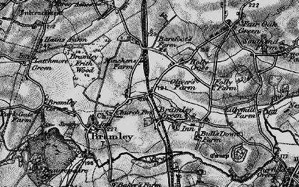 Old map of Bramley in 1895