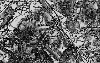 Old map of Bramley in 1896