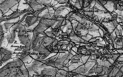 Old map of Aked's Dam in 1898