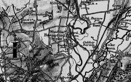 Old map of Brampford Speke in 1898