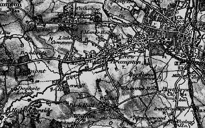 Old map of Brampton in 1896