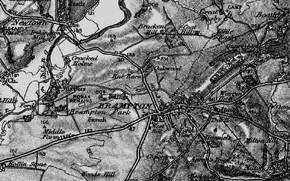 Old map of Aaron's Town in 1897