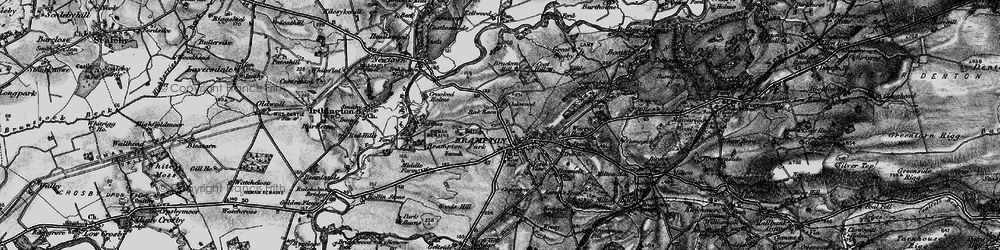 Old map of Wood's Hill in 1897