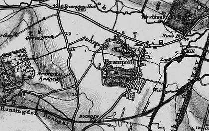Old map of Brampton in 1898