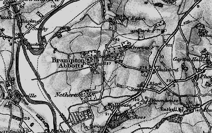 Old map of Brampton Abbotts in 1896