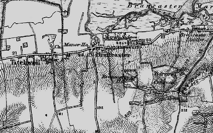 Old map of Brancaster in 1898