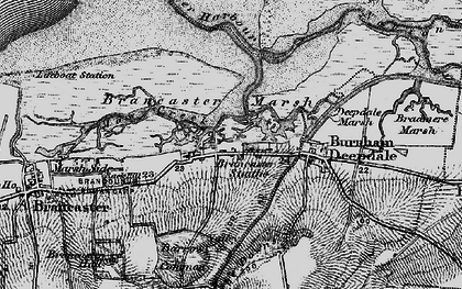 Old map of Brancaster Staithe in 1898
