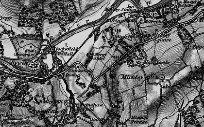 Old map of Branch End in 1898