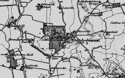 Old map of Barff Ho in 1897