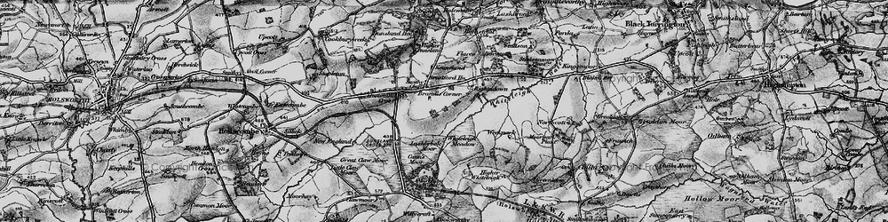 Old map of Whiteleigh Meadow in 1895