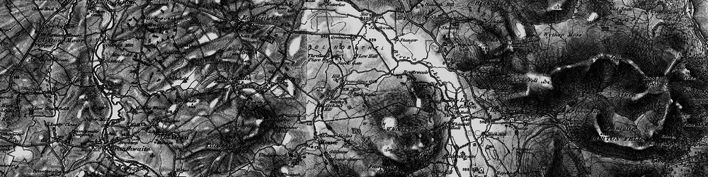 Old map of Whin Fell in 1897