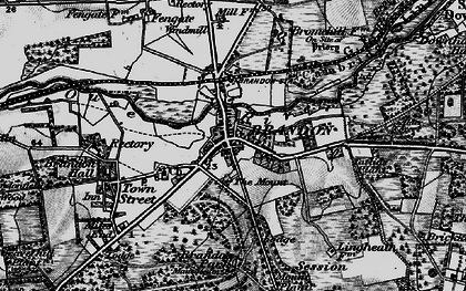 Old map of Brandon in 1898