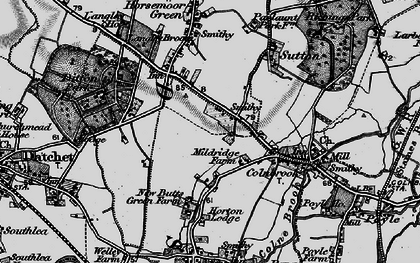 Old map of Brands Hill in 1896