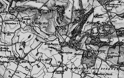 Old map of Brandsby in 1898