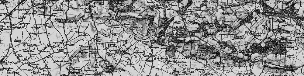 Old map of Whinny Oaks Covert in 1898