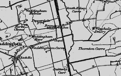 Old map of Winghale Priory in 1898