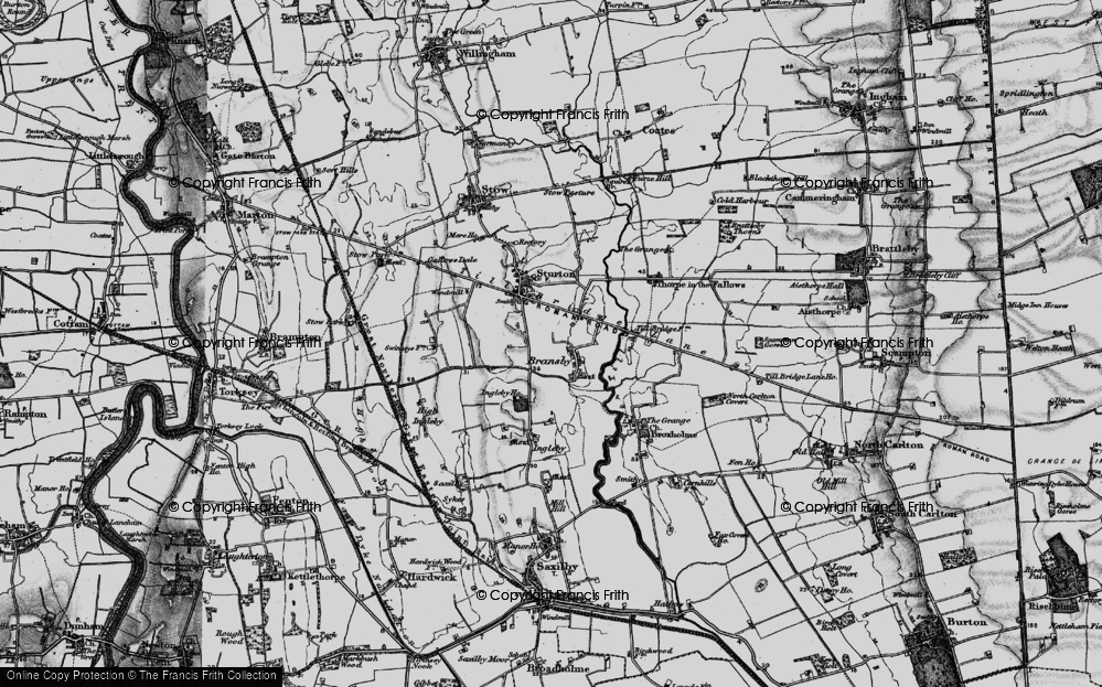 Old Map of Historic Map covering Aldhow Grange in 1899