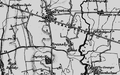 Old map of Aldhow Grange in 1899