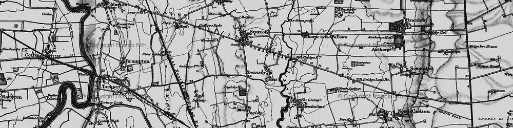 Old map of Aldhow Grange in 1899