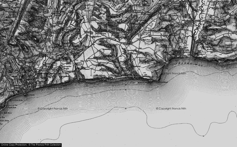 Old Map of Branscombe, 1897 in 1897