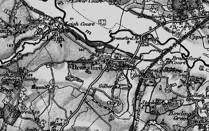 Old map of Bransford in 1898