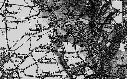 Old map of Bransgore in 1895