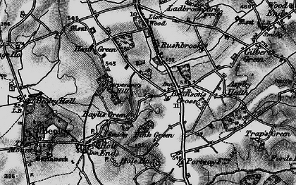 Old map of Branson's Cross in 1898